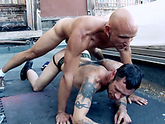 Damon Dogg & Max Stone in Damon Dogg And The Cum Hole Cruisers Scene 5 - Bromo