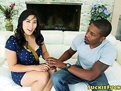 asian amateur plowed by bbc until cuminmouth