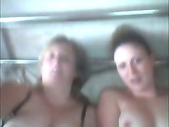 two slutty amateur whorable nymphos flashed their huge boobies on webcam
