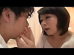 luscious japanese cutie touches herself and works her lips
