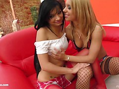 Angel Pink and Nikky in fisting lesbian scene by FistFlush