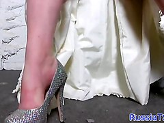 Amateur russian tgirl beauty solo tugging