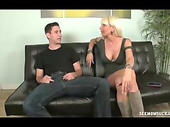 horny milf meets young guy with big cock