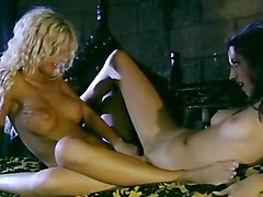 Hot Lesbians Lick Pussy By The Fire