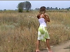 Hungarian  blond get fuckend outdoor