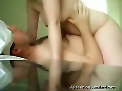 sexy amateur brunette milf wife rides her lover on cam