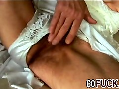 Blonde granny blowjob doggy style fuck
