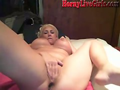 when this busty blonde masturbates on cam she sure does masturbate