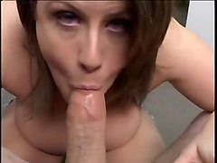 Dirty Brunette Cunt Sucks & Swallow
