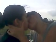 two sexy girls kissing passionately in real amateur video