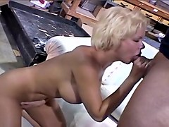 Sweet Blond Giving Sloppy Blowjob