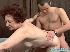 granny fucked by boy in her home