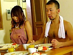 Jun Kusanagi & Yuri Aine in Yuri Aine and Jun Kusanagi having fun while naked with the family - AviDolz