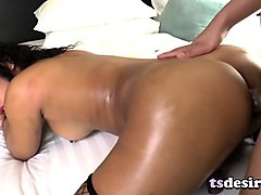 asian transsexual babes fuck each other