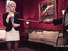 threesome bondage submission of blonde