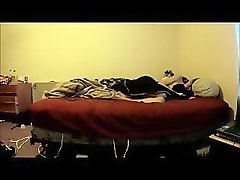 excellent climax on mattress of my cousin. hidden camera