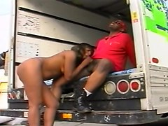 On moving day he moves her ass right into the truck and fucks it.