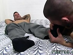gay male feet worship videos caleb gets a surprise foot job