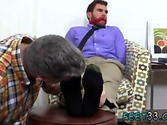 cute guy gets his feet worshiped by a mature gay weirdo