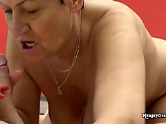 hungry granny blows a stud