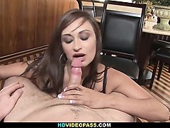 hot milf nora gives hubby a surprise blowjob