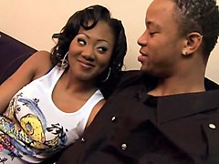 young ebony babe rides black cock like a pro