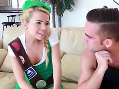 Petite Girlscout Gets a Creampie Surprise