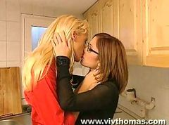Lesbian work friends make out!