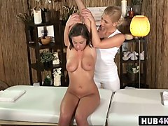 busty anabelle and tracy enjoy lesbian massage