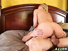 hot wife sarah bangs with her lover and husband