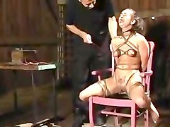Bondage milking and heavy electro torture