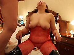 Chubby fetish loving milf enjoys cock sucking and pussy toying