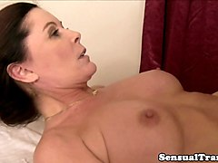trans lesbian masseuse creams on mature pussy