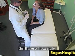 amateur euro cocksucking doctor during exam