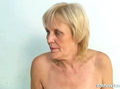 Mature old Brigita getting pussy exam from..