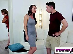 horny step mom blows long throbbing schlong