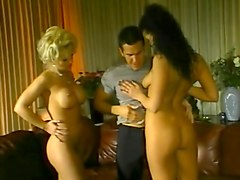 Anal vintage threesome