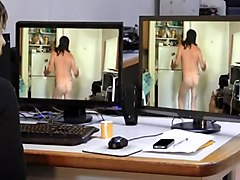 Naked windows dancing and ass flashing