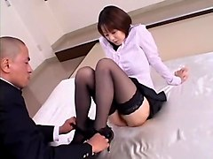 Crazy Japanese girl Misa Nishida in Exotic Cunnilingus, Stockings JAV clip