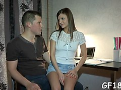 amateur russian teen babe gets rammed in this cuckold scene