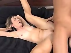 Skinny hot granny fucked by junior guy.