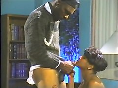 Horny pornstar Lady Antoinette in fabulous black and ebony, blowjob adult scene
