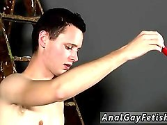 giving him first gay sex tube time splashed with wax and cum