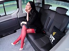 fucked in traffic - busty russian beauty kira queen gets fucked in the car