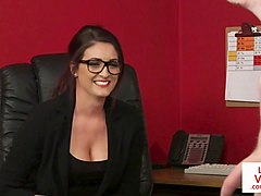 voyeur spex secretary instructing tugging sub