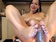 bitch playing with dildos and fingers 1