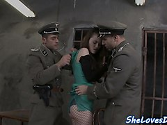 pretty prisoner dp screwed by horny guards
