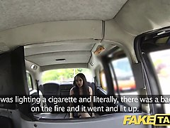 fake taxi brunette sucks fucks and takes it in the ass