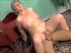 Crazy Amateur clip with German, Grannies scenes