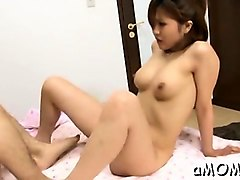 fleshly oriental milf plays hard with cock in show